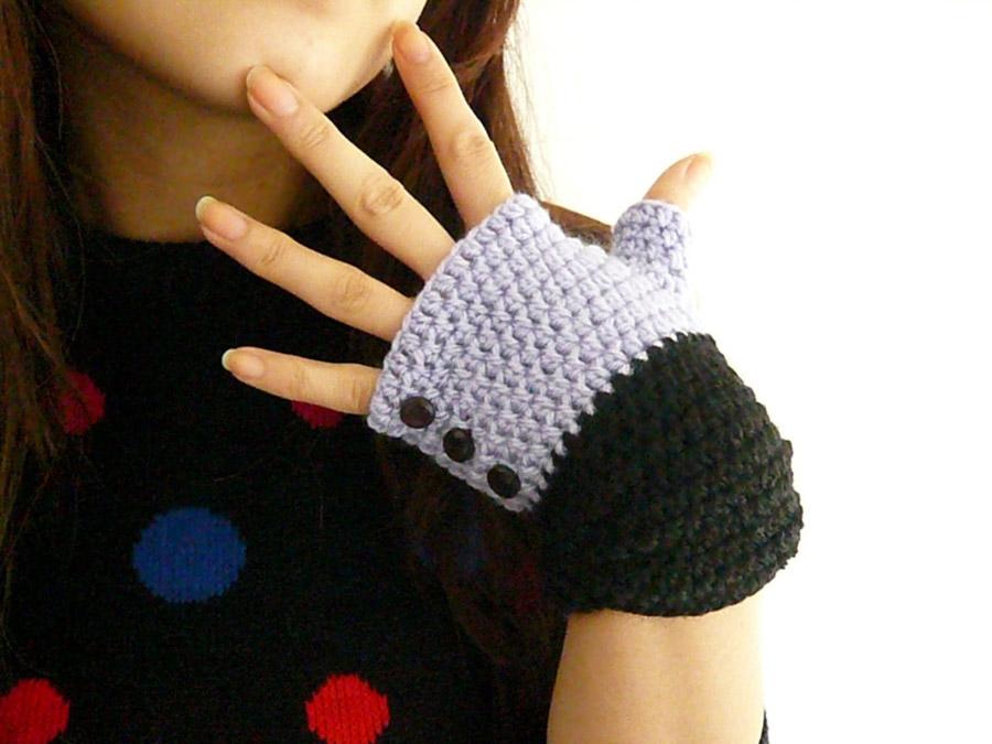 Bonito Guantes Sin Dedos De Crochet Patrón Libre Componente - Ideas ...