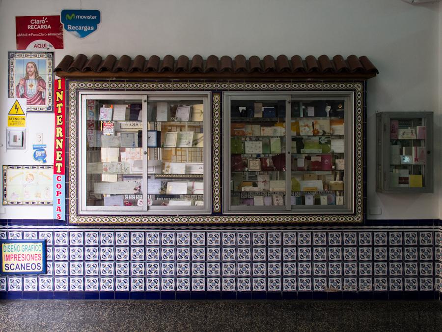 Galería de imprentas en el casco histórico de Lima. Foto