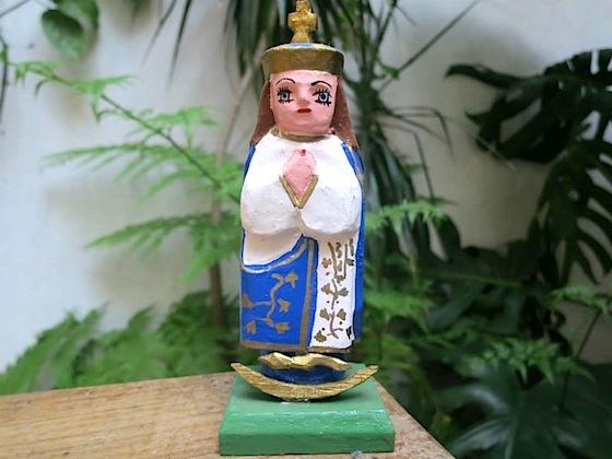 Virgen de Caacupé tallada, en Guaraní Porā. Foto