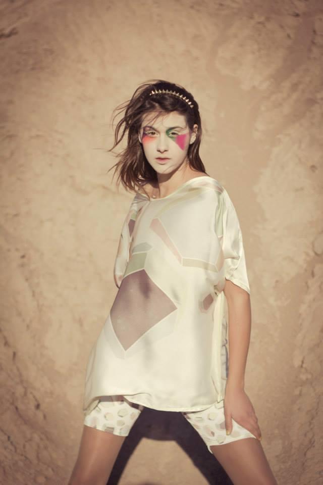 Textiles estampados de Mundo Estudio para un concurso de Para Ti y Arte Espacio (2013). Foto