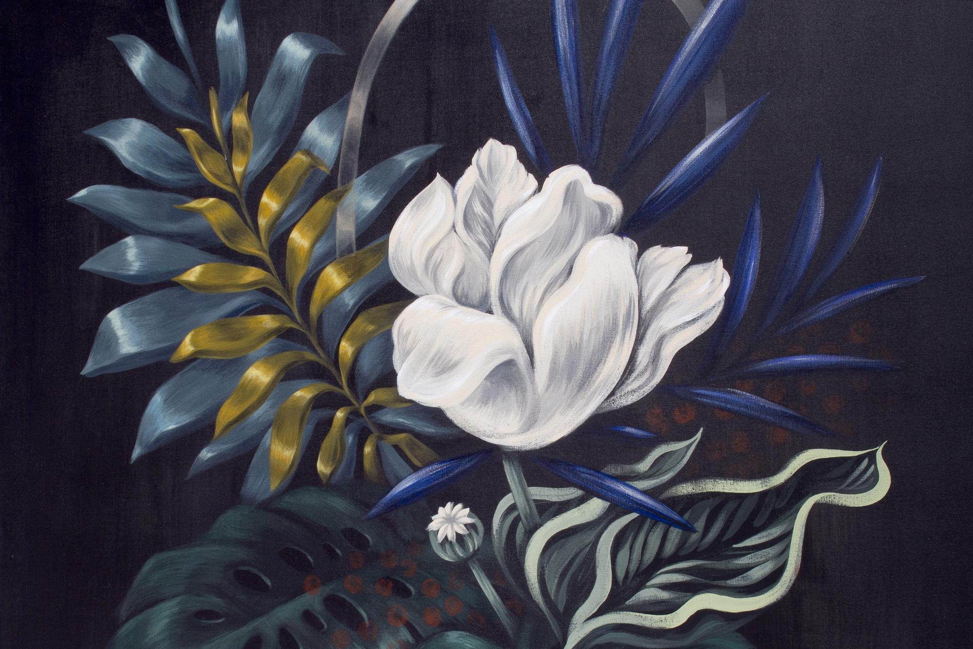 Obras de la feria de arte y plantas Flora: pintura de Lucila Domínguez. Foto